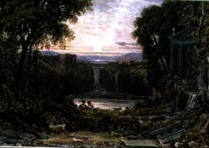 George Barret The Elder - Atardecer , tivoli