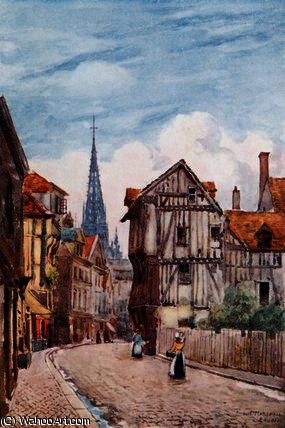 St Rue. romain, ruán de Herbert Menzies Marshall (1841-1913, United Kingdom)