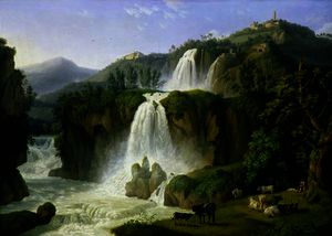 Jacob Philippe Hackert - el catarata en tivoli