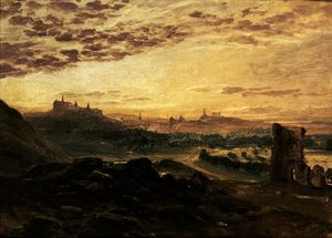 Samuel Bough - una panorámica Vista de EDINBURGH