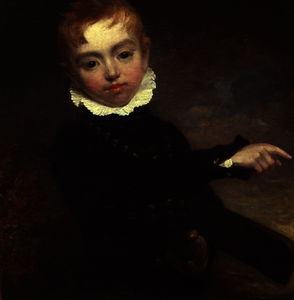 William Beechey - muchacho con Un  Grillo  murciélago