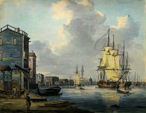 William Anderson - el támesis a Rotherhithe ,