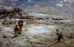 William Mctaggart - Nieve en abril