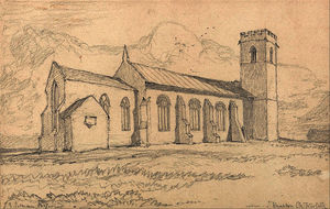 John Sell Cotman - Knapton Iglesia , Norfolk , desde el North-East