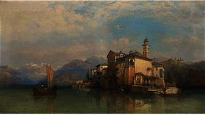 George Edwards Hering - Isola san guilo , lago de orta