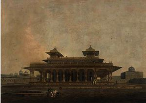 Thomas And William Daniell - Parte de la palacio en el fortaleza de allahabad