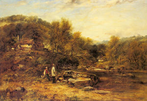 Frederick Waters (William) Watts - Los pescadores de un arroyo