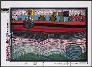 Friedensreich Hundertwasser - Un Regentag on Waves of Love