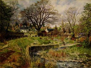 James Mcintosh Patrick - Glamis Pueblo en abril