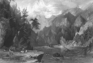 Thomas Allom - Gangotri, ganges río