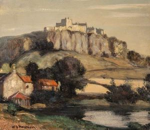 William York Macgregor - Un castillo en un acantilado