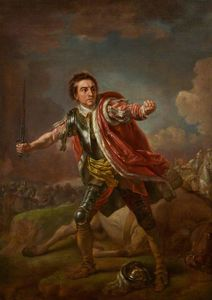 Francis Hayman - David Garrick como Gloucester en Ricardo III de William Shakespeare, Drury Lane (1759)