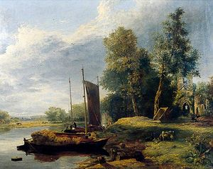 George Vincent - En el río Yare, Norfolk