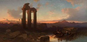 Harry John Johnson - Ruinas en Hierápolis, Grecia