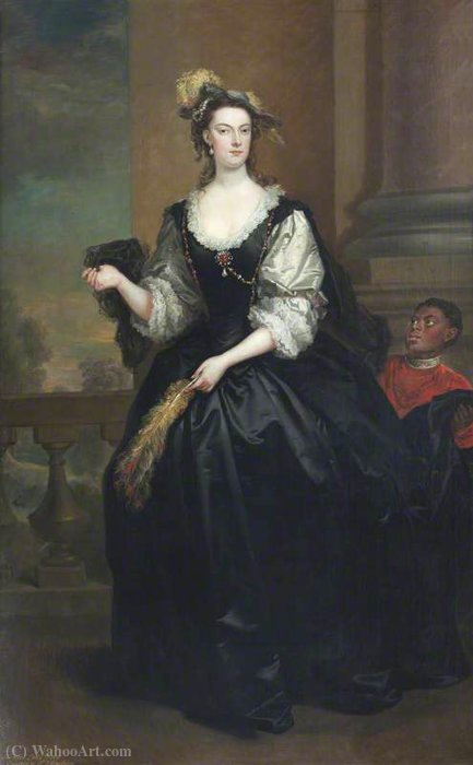 El honorable anne howard (d.1775), yonge dama de John Vanderbank (1694-1739, United Kingdom)