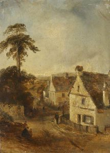 Thomas Colman Dibdin - Ambleside según lo visto de The White Lion