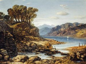 William Dyce - Vista de Loch Lomond