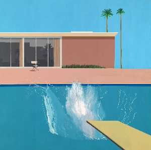 David Hockney - Un más grande  salpicaduras