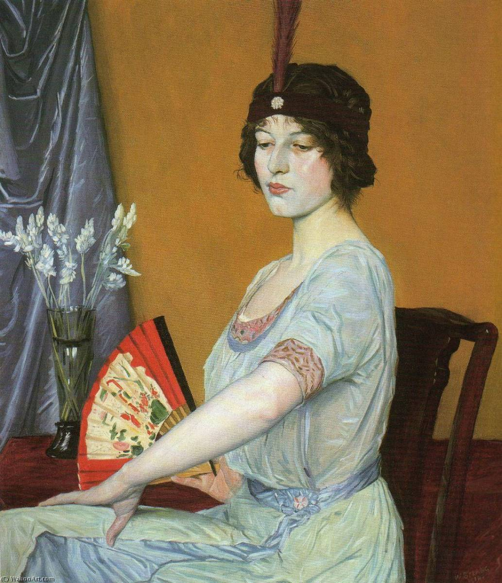 La Fan japonesa, 1910 de William Strang (1859-1921)