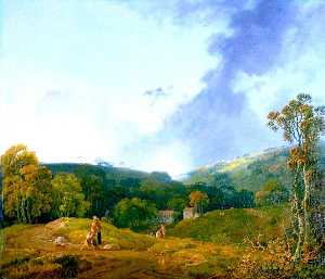 George Barret The Elder - paisaje del La mañana