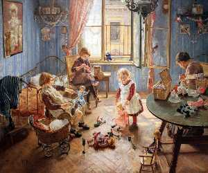 Fritz Von Uhde - Inglés Children's Vivero Deutsch Morir kinderstube русский питомник