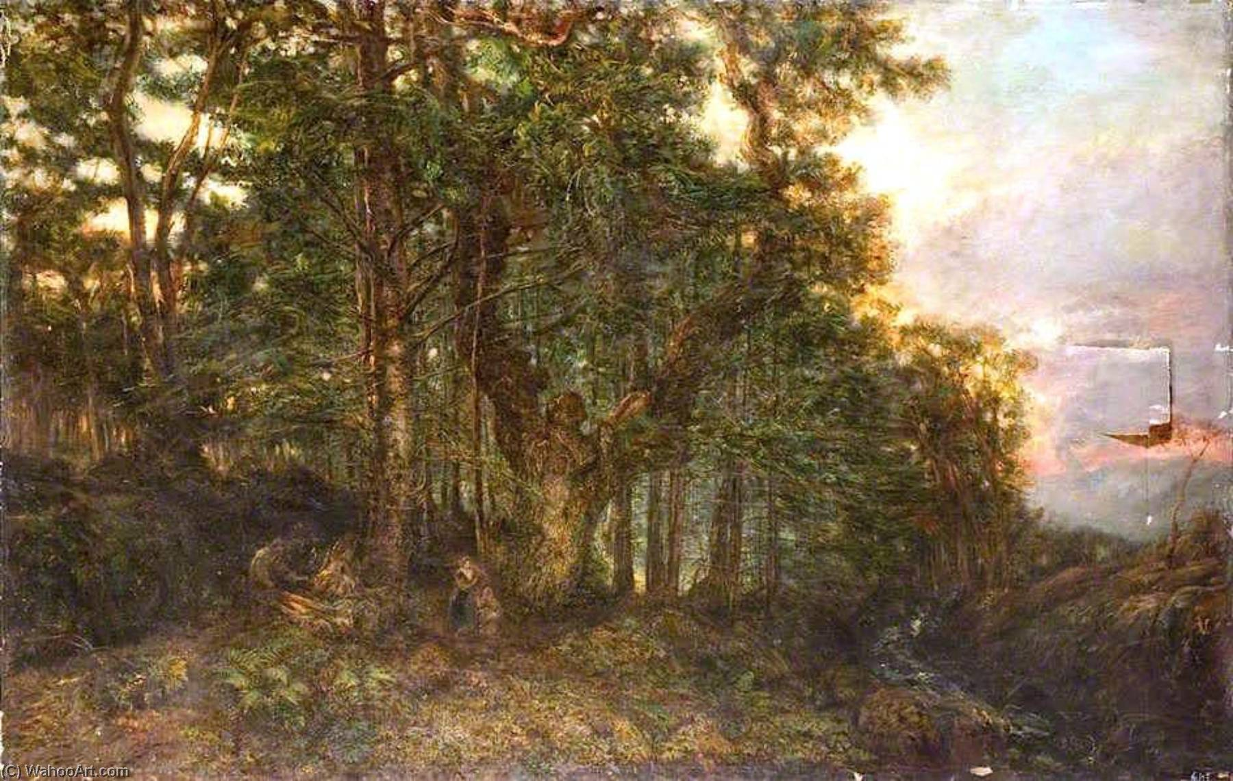 Un alerce  bosque , óleo sobre lienzo de Henry Mark Anthony (1817-1886)