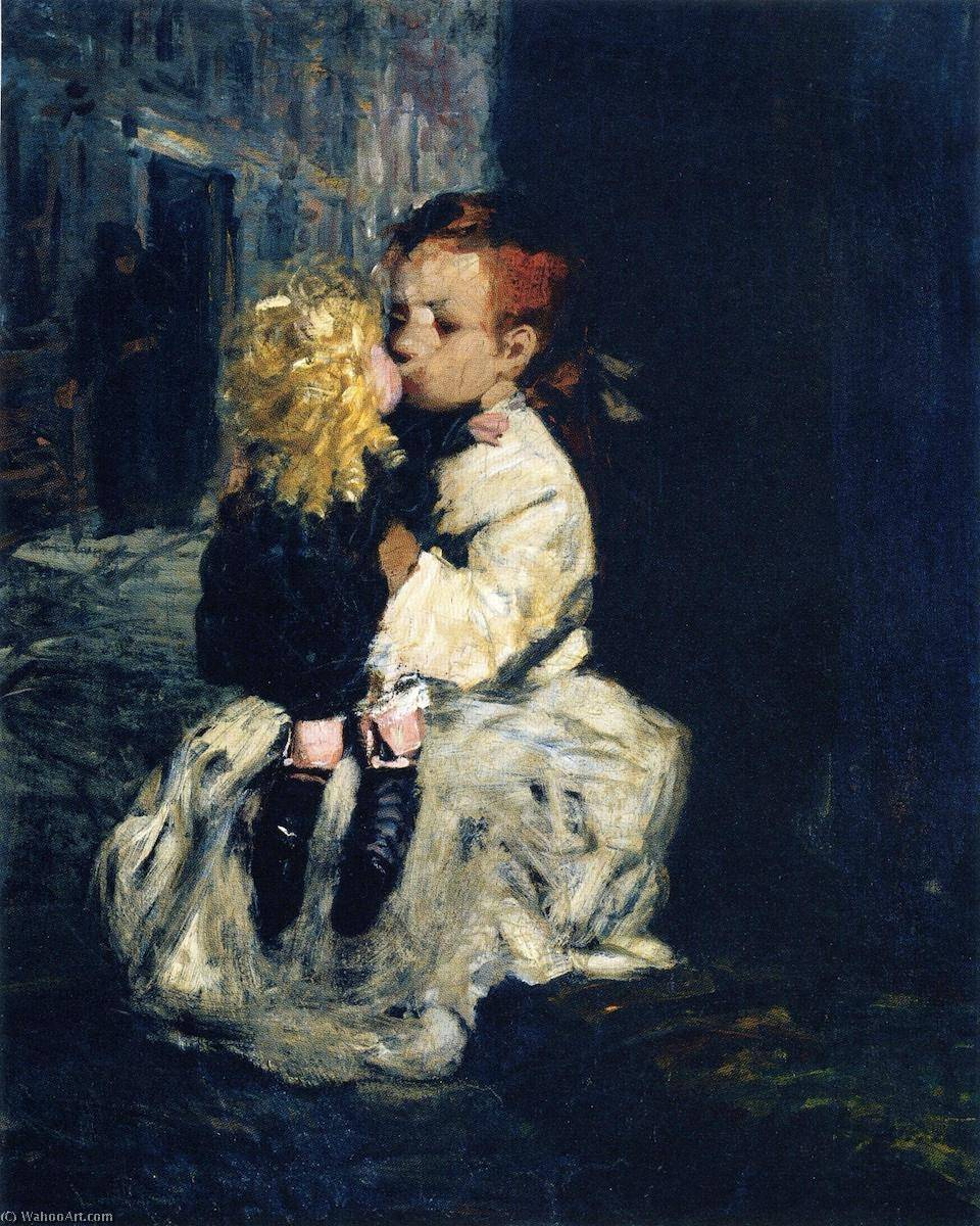 la pequeña virgen , óleo sobre lienzo de George Benjamin Luks (1867 ...