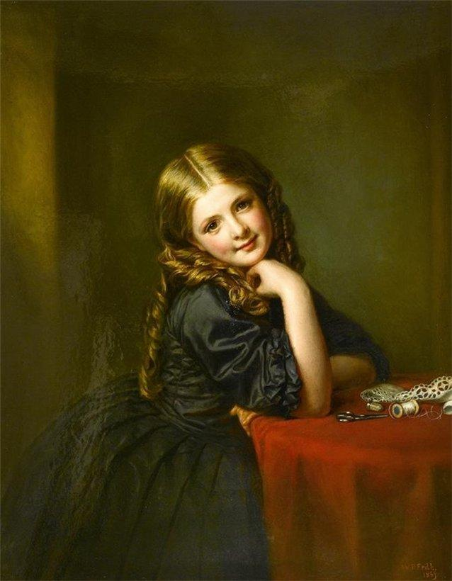 Pequeño Costurera , 1865 de William Powell Frith (1819-1909, United Kingdom)