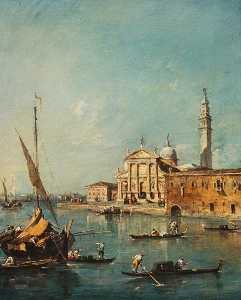 Francesco Lazzaro Guardi - san giorgio Mayor , Venecia