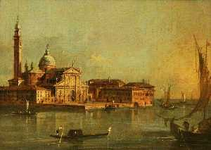 Francesco Lazzaro Guardi - Vista de la Isla de san giorgio Mayor , Venecia