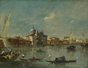 Francesco Lazzaro Guardi - Venecia la giudecca con el Zitelle