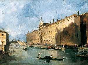 Francesco Lazzaro Guardi - El 'Rio dei mendicanti'