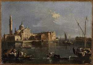 Francesco Lazzaro Guardi - L'EGLISE SAN GIORGIO MAYOR Un VENECIA