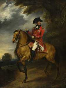 William Beechey - Jorge III Vol  1738–1820   en  caballo