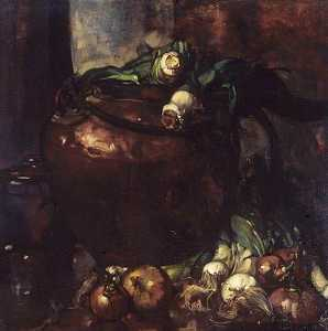 Frank William Brangwyn - Puerros