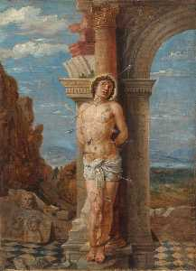 David The Younger Teniers - santo sebastián ( después de andrea mantegna )