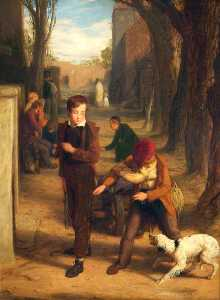 William Mulready The Younger - Un perro  todaclasede  dos  mentes