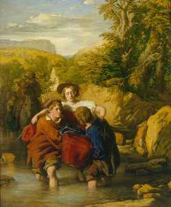 William Mulready The Younger - el ford ( 'Crossing el Ford' )