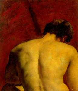 William Etty - estudio de a desnudo masculino  cifra
