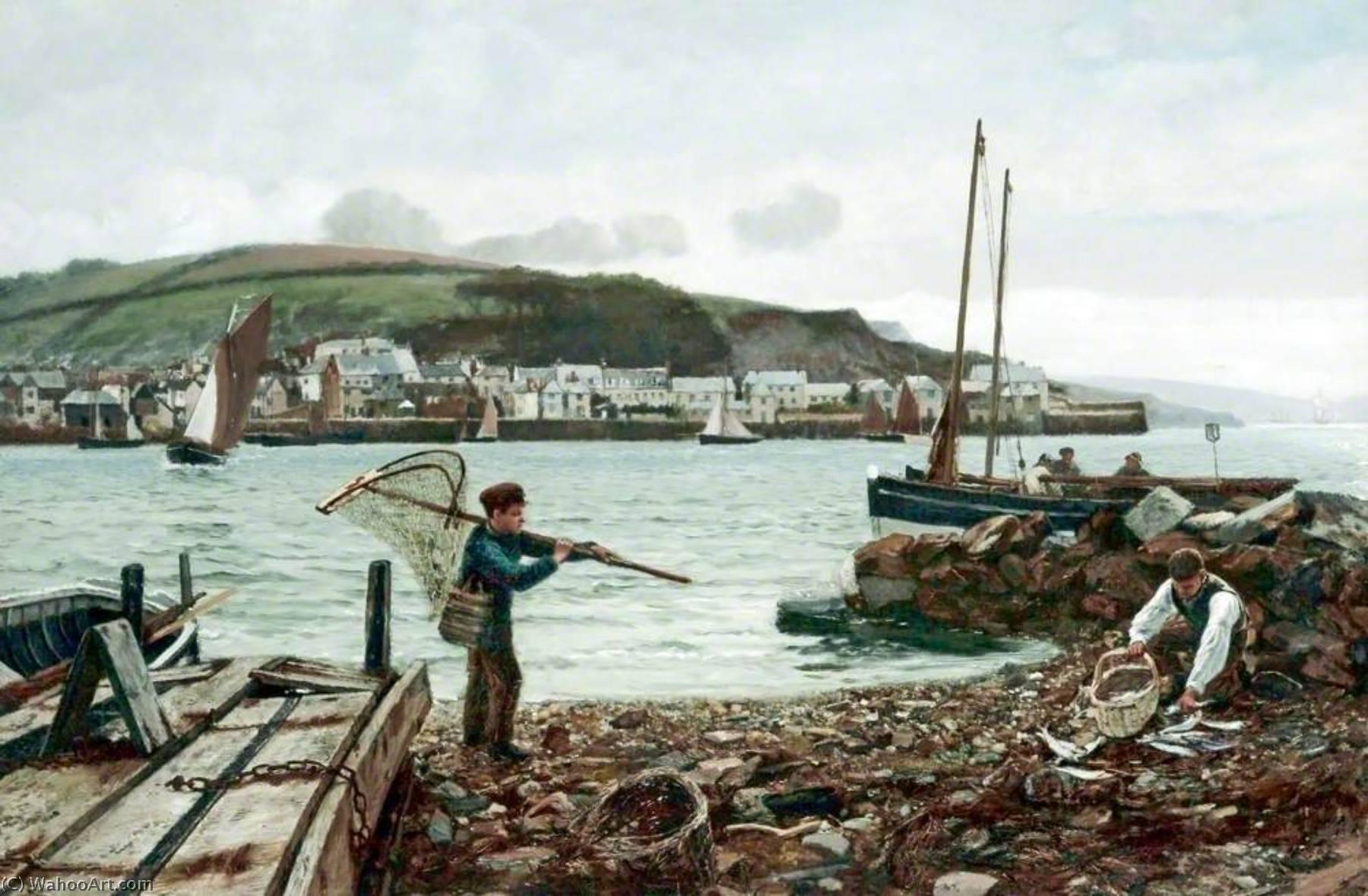 la pequeña Shrimper, óleo sobre lienzo de Charles Napier Hemy (1841 ...