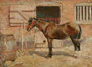 Alfred James Munnings - estudio de a poney
