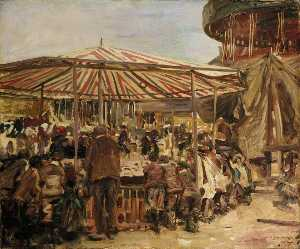 Alfred James Munnings - Tombland Feria