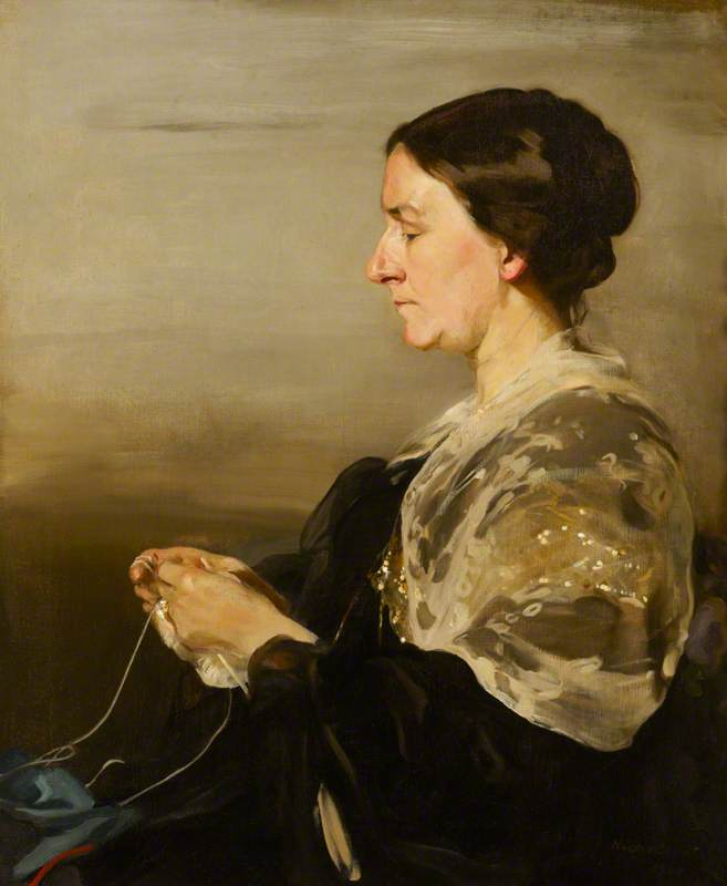 Margaret Campo ( 1847–1936 ) , Señorita james samuel beale, 1911 de William Newzam Prior Nicholson (1872-1949, United Kingdom) | Copia De La Pintura | WahooArt.com