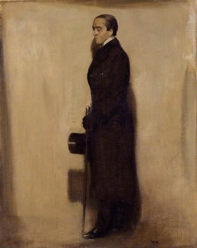 Señor Máximo Beerbohm, óleo sobre lienzo de William Newzam Prior Nicholson (1872-1949, United Kingdom)