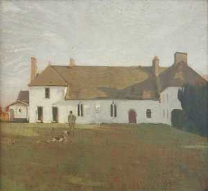 William Newzam Prior Nicholson - la casa blanca , sutton veny
