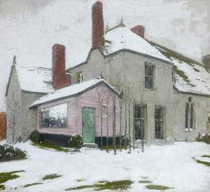 William Newzam Prior Nicholson - sutton veny en la nieve