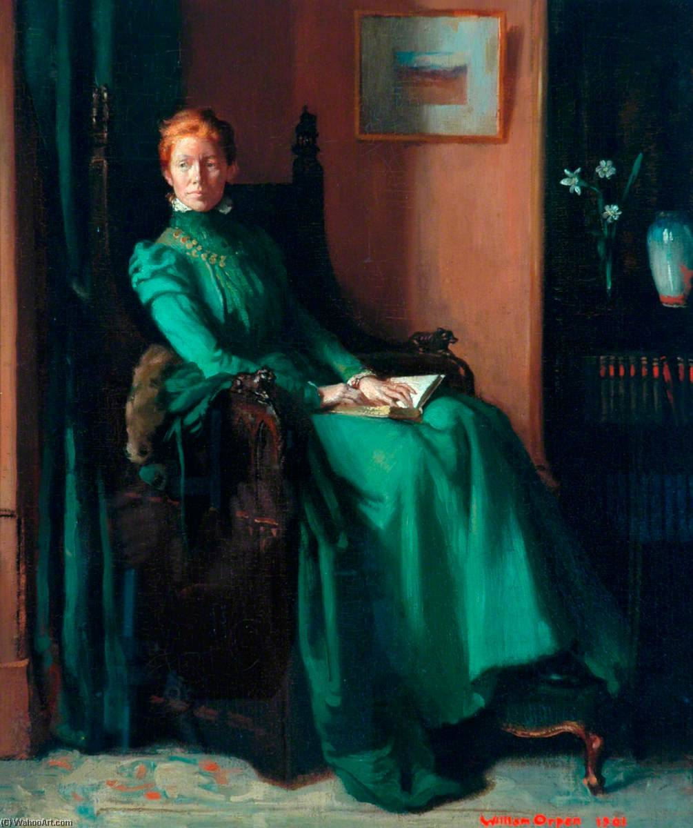 Señorita charles hughes, 1901 de William Newenham Montague Orpen (1878-1931, Ireland) | Copia De La Pintura | WahooArt.com