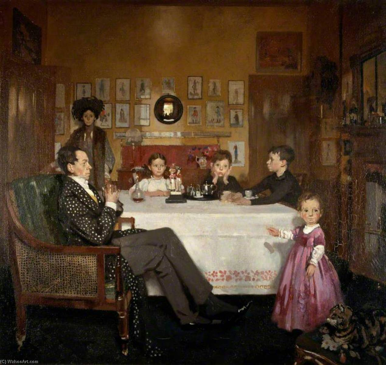 Un Bloomsbury Familia, óleo sobre lienzo de William Newenham Montague Orpen (1878-1931, Ireland)
