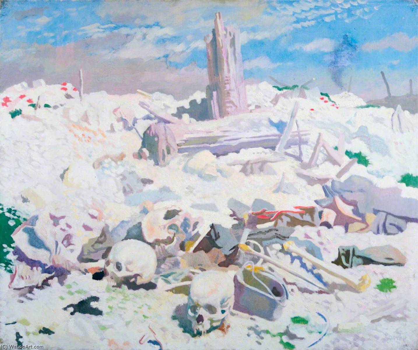 Thiepval, óleo sobre lienzo de William Newenham Montague Orpen (1878-1931, Ireland)