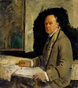 William Newenham Montague Orpen - estudio para una retrato de leonard stokes